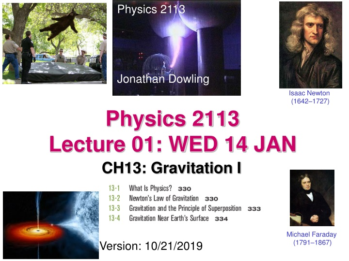 physics 2113 lecture 01 wed 14 jan n.