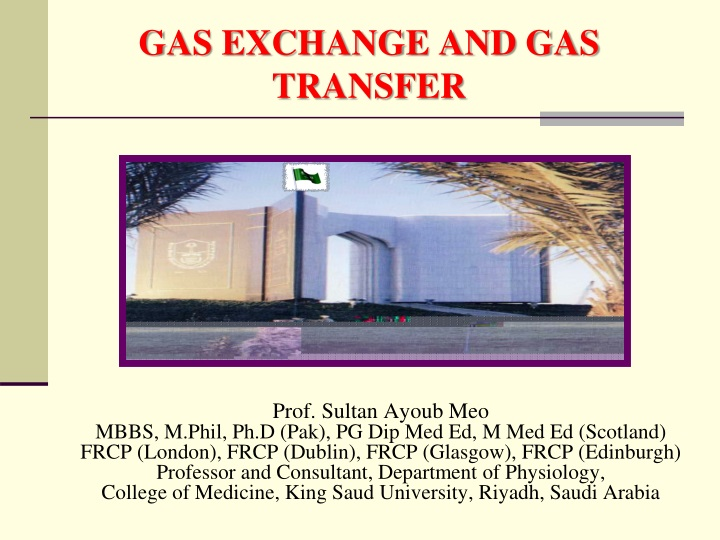 gas exchange and gas transfer n.