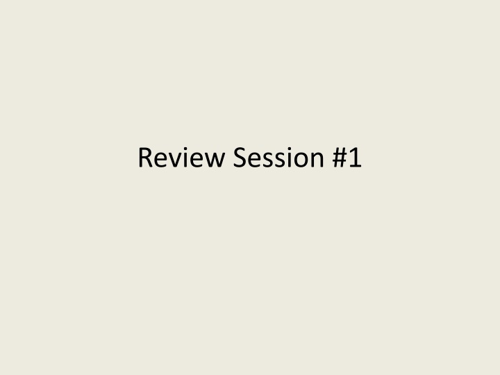 review session 1 n.