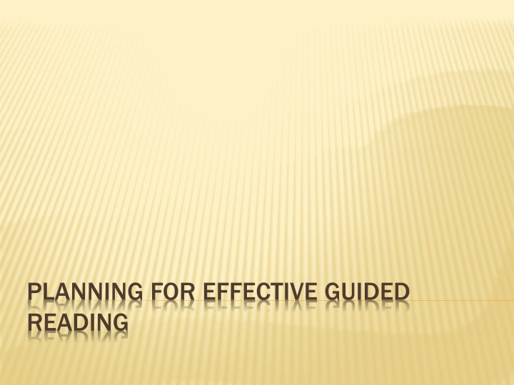 planning for effective guided reading n.