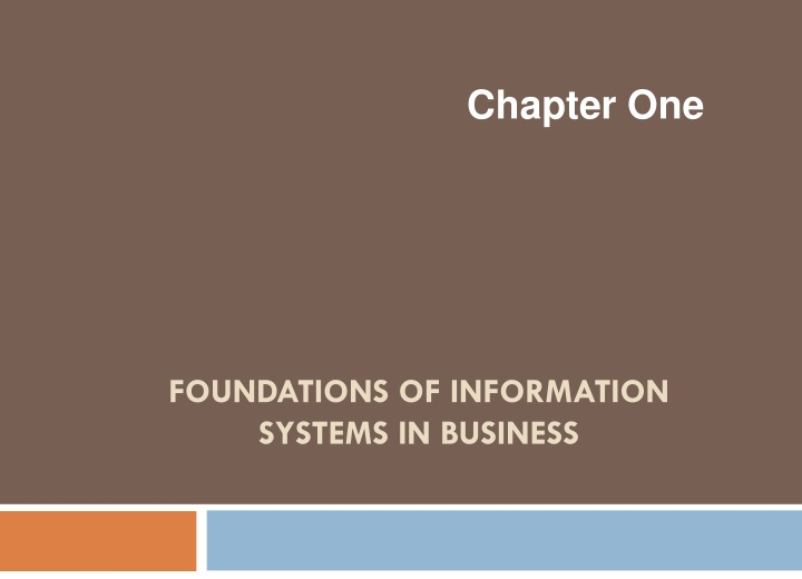 foundations of information systems in business n.