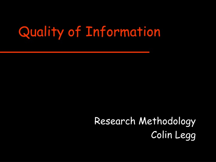 quality of information n.