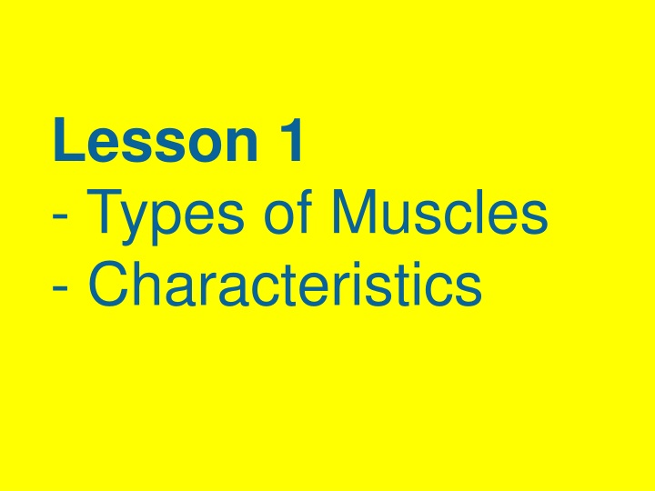lesson 1 types of muscles characteristics n.