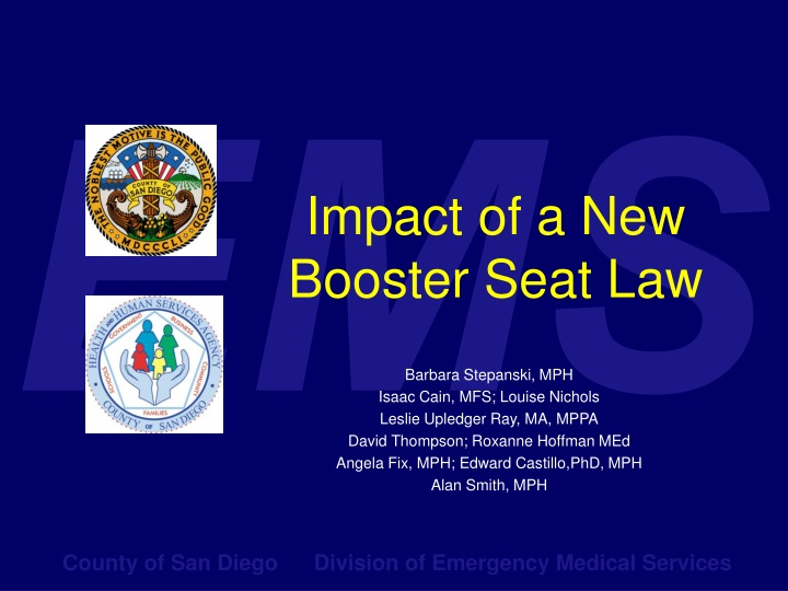 impact of a new booster seat law n.