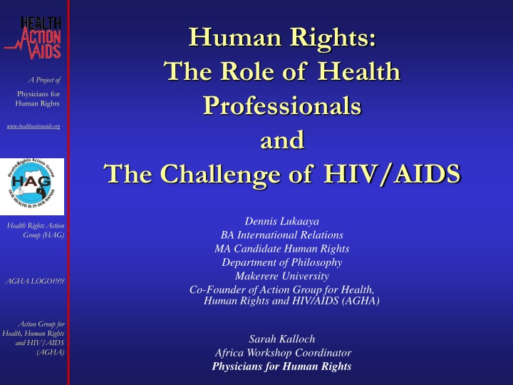 human rights the role of health professionals and the challenge of hiv aids n.