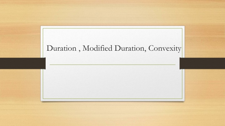 duration modified duration convexity n.