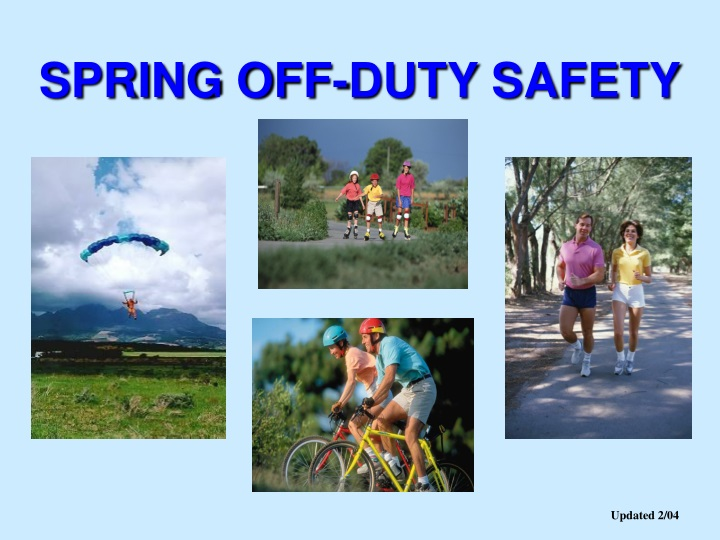 spring off duty safety n.