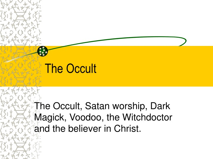 the occult n.