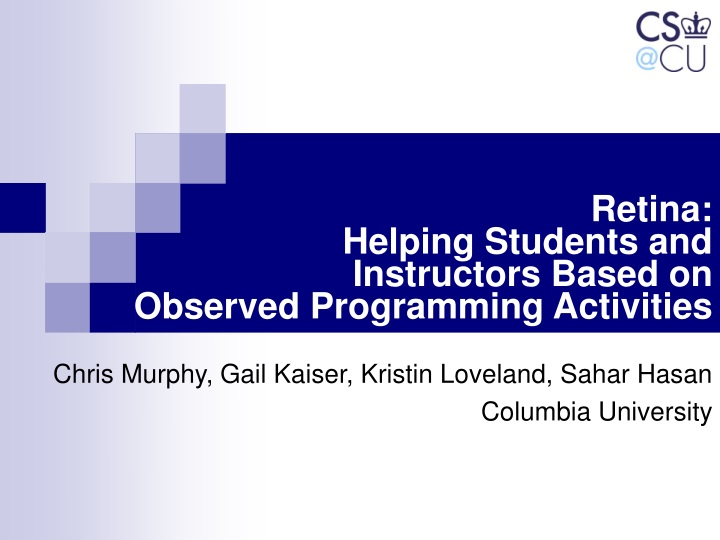retina helping students and instructors based on observed programming activities n.