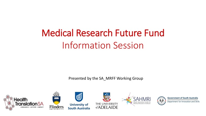 medical research future fund information session n.