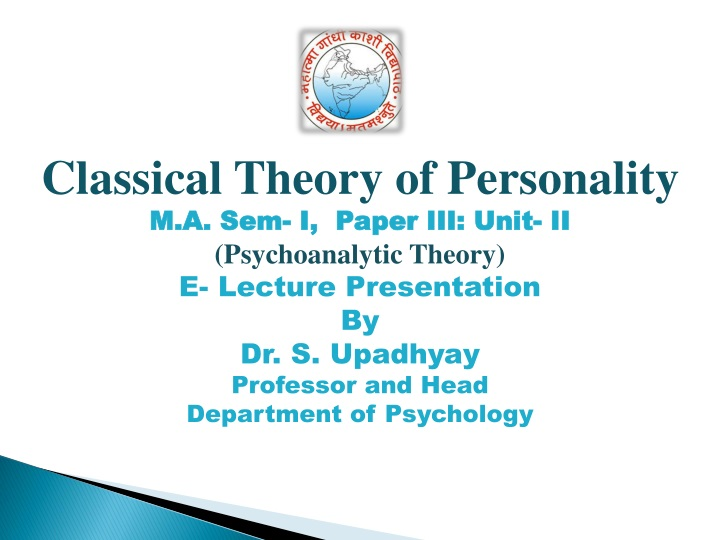classical theory of personality m a sem i paper n.