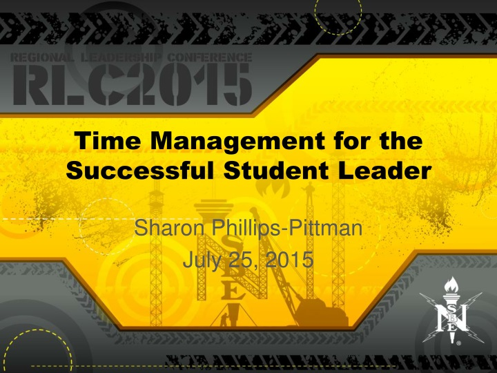 time management for the successful student leader n.