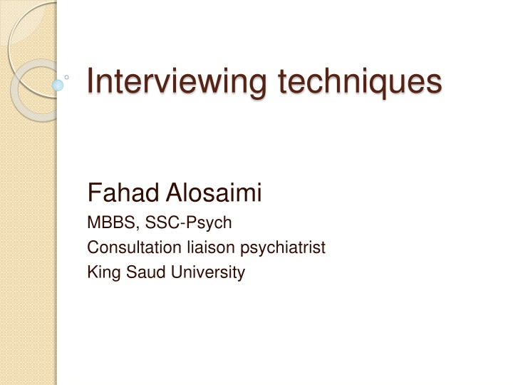 interviewing techniques n.