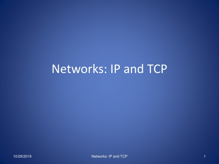 networks ip and tcp n.