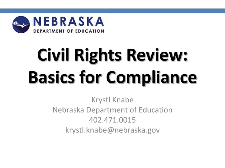 civil rights review basics for compliance n.