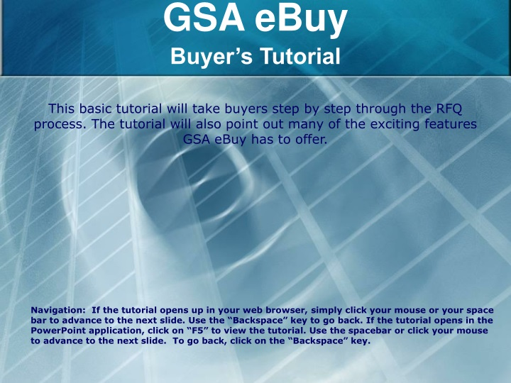 gsa ebuy buyer s tutorial n.