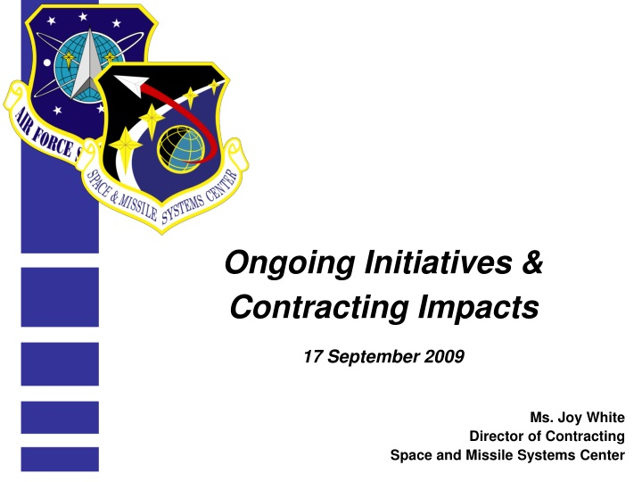 ongoing initiatives contracting impacts 17 september 2009 n.