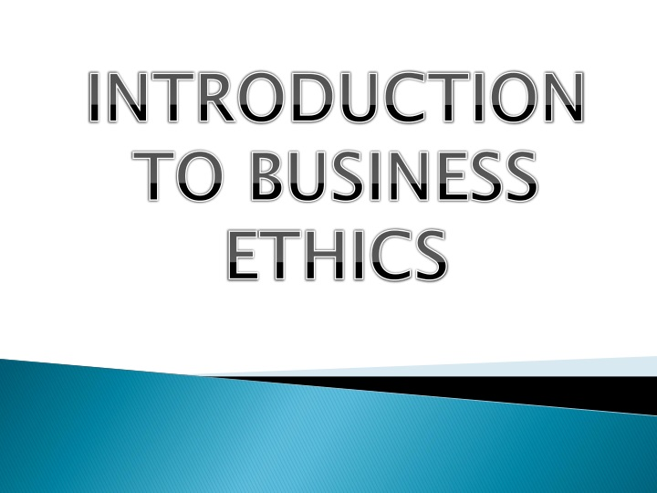introduction to business ethics n.