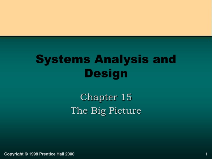 systems analysis and design n.