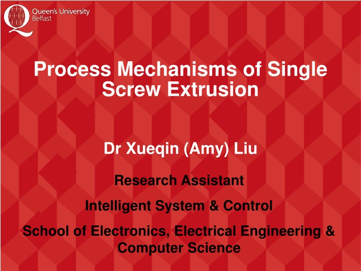 process mechanisms of single screw extrusion n.