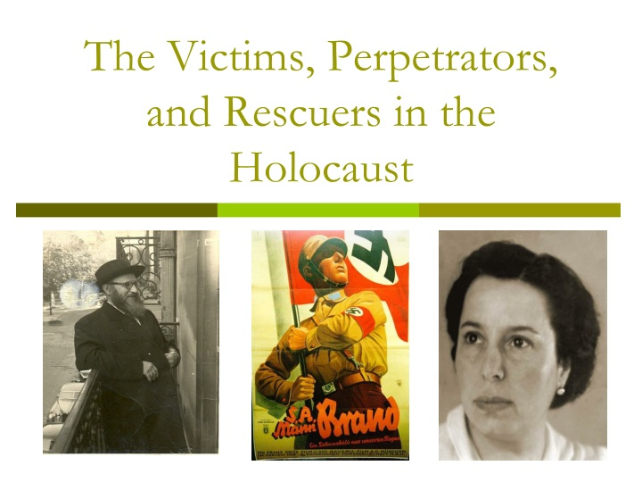 the victims perpetrators and rescuers in the holocaust n.