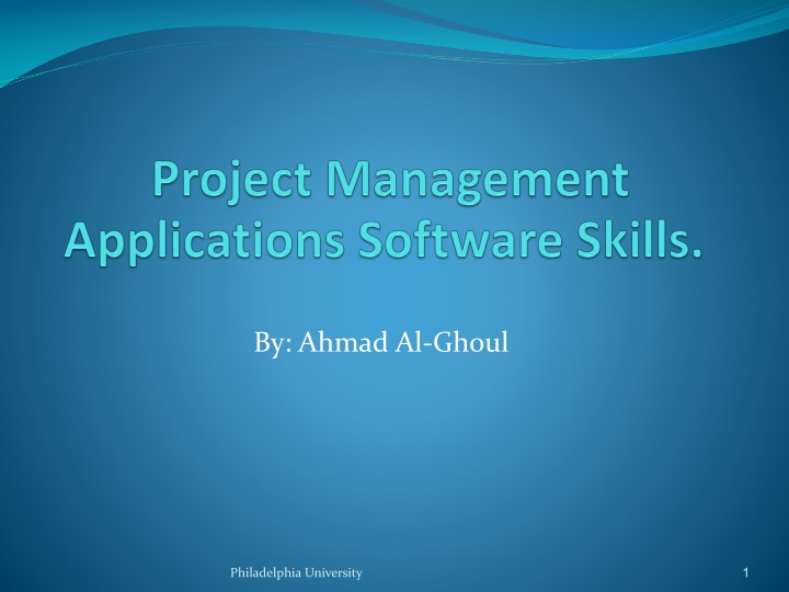 project management applications software skills n.