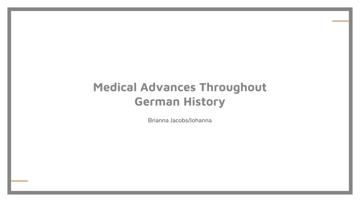 medical advances throughout german history n.