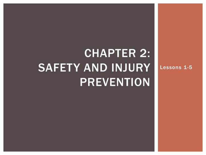 chapter 2 safety and injury prevention n.