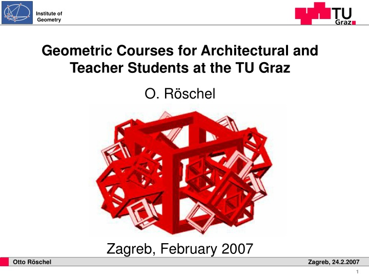 geometric courses for architectural and teacher n.