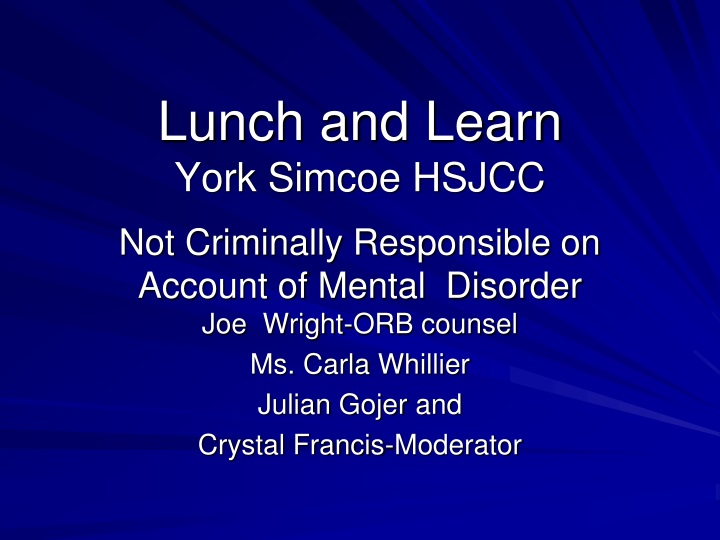 lunch and learn york simcoe hsjcc n.