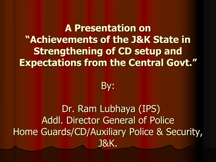 a presentation on achievements of the j k state n.