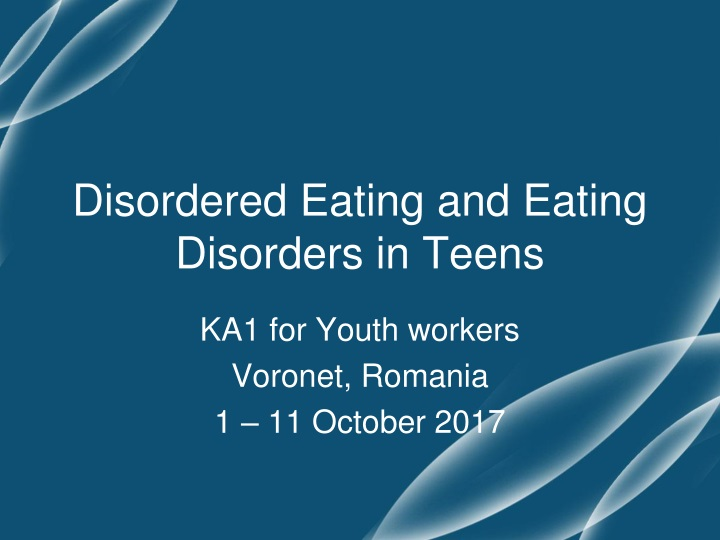 disordered eating and eating disorders in teens n.