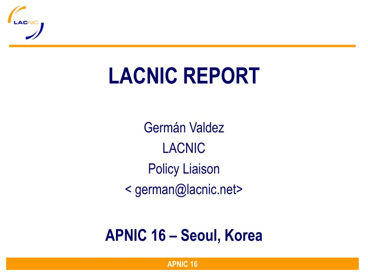 lacnic report n.