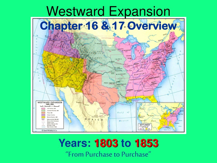 westward expansion chapter 16 17 overview years n.