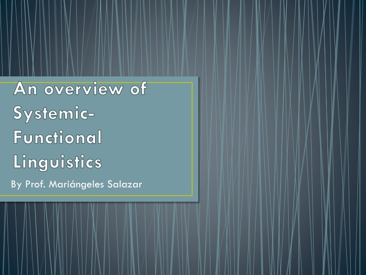 an overview of systemic functional linguistics n.