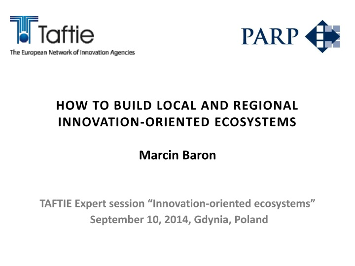how to build local and regional innovation n.