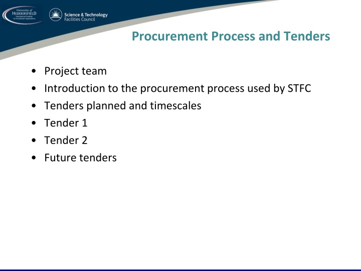 procurement process and tenders n.