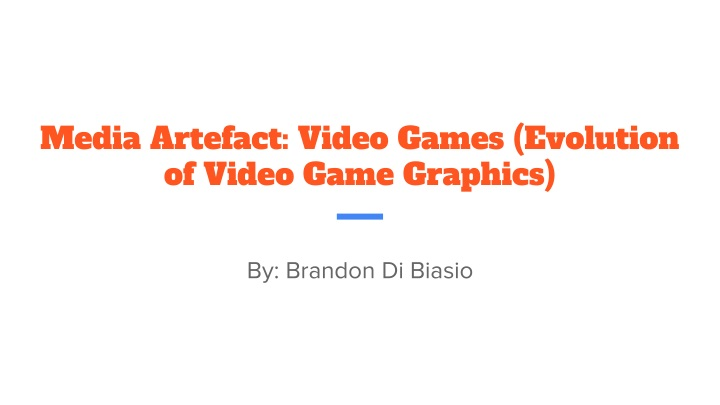 media artefact video games evolution of video game graphics n.