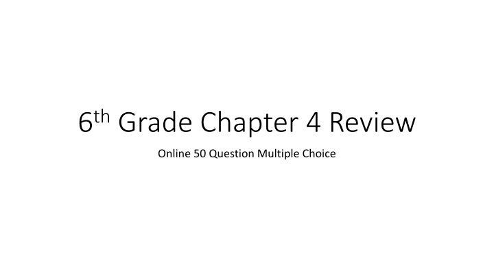 6 th grade chapter 4 review n.