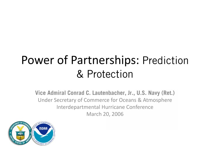 power of partnerships prediction protection n.