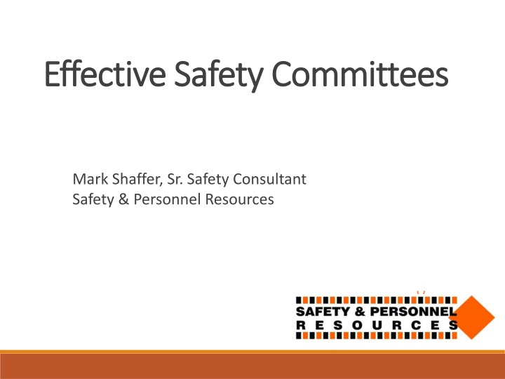 effective safety committees n.