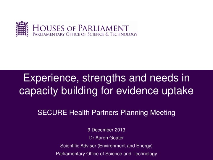 experience strengths and needs in capacity n.