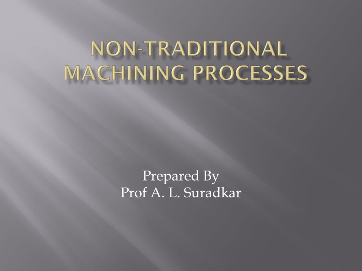non traditional machining processes n.