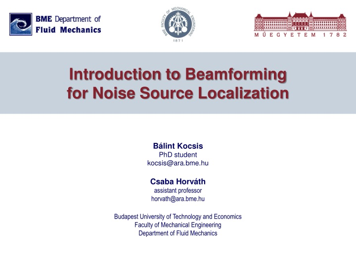 introduction to beamforming for noise source localization n.