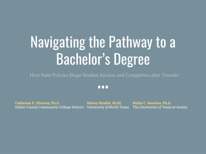 navigating the pathway to a bachelor s degree n.