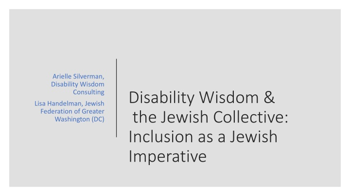 disability wisdom the jewish collective inclusion as a jewish imperative n.