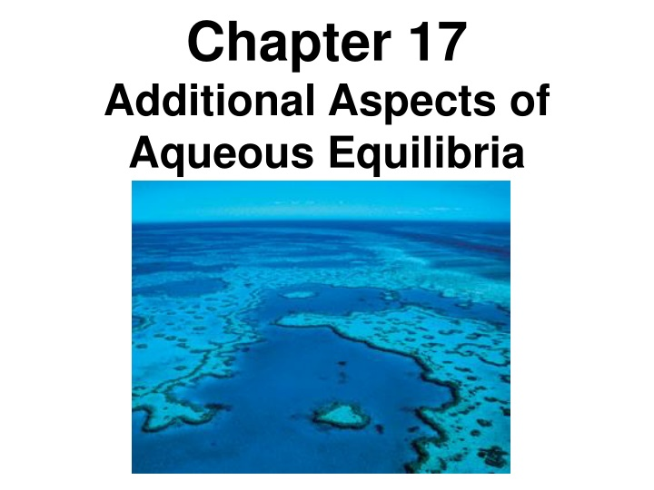 chapter 17 additional aspects of aqueous n.