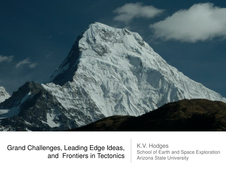 grand challenges leading edge ideas and frontiers in tectonics n.