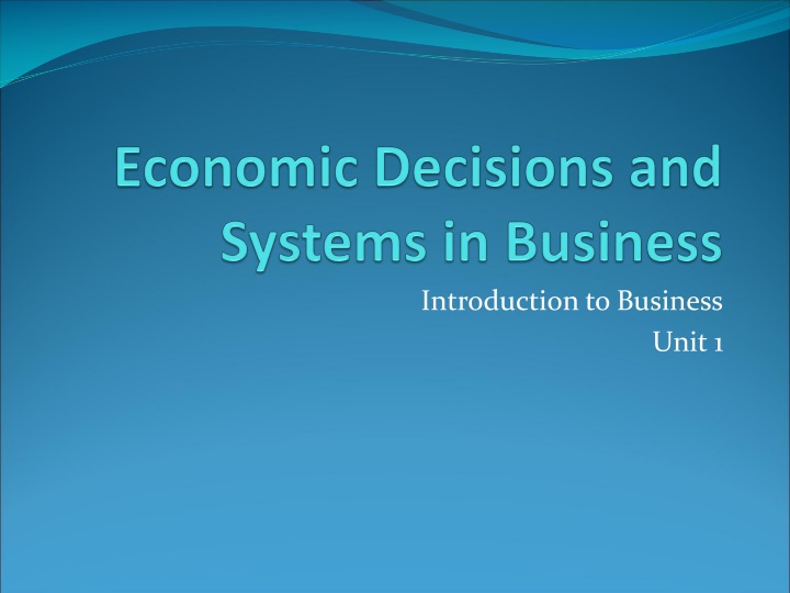 economic decisions and systems in business n.