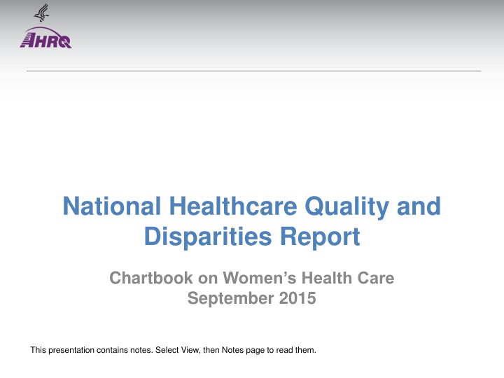 national healthcare quality and disparities report n.